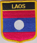 Laos Embroidered Flag Patch, style 07.